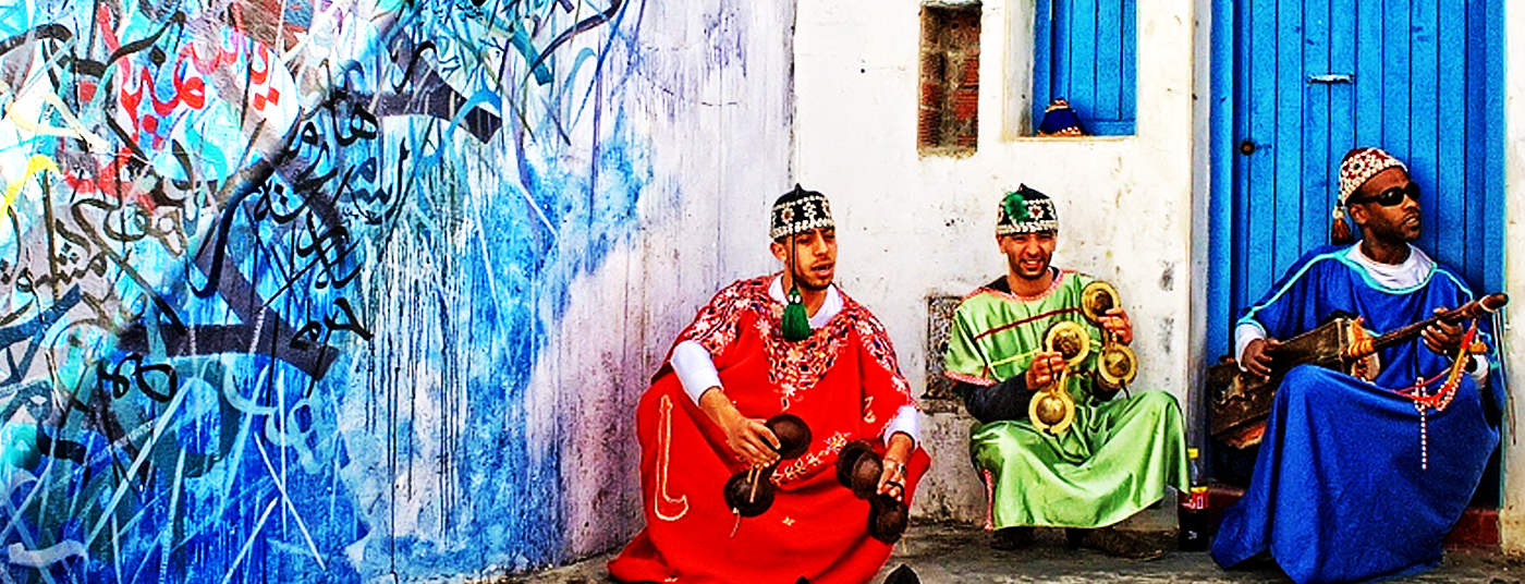 "Musicians in the old ""Medina"""