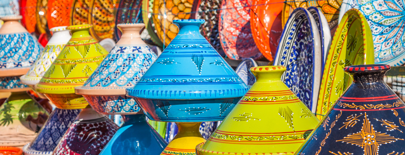 "The colorful ""souks"" (markets)"